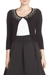Eliza J Women's Embellished Crop Cardigan Black