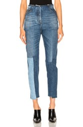Valentino Patch Skinny Denim In Blue