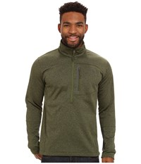 The North Face Canyonlands 1 2 Zip Pullover Scallion Green Heather Men's Long Sleeve Pullover Gray