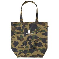A Bathing Ape 1St Camo Packable Tote Bag Green