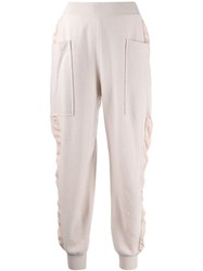 Stella Mccartney Knitted High Rise Track Pants Pink