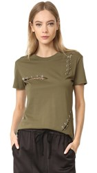 The Kooples Tee With Pins Khaki