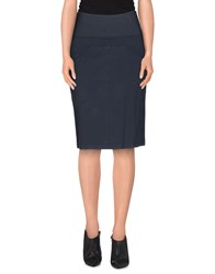 European Culture Skirts Knee Length Skirts Women Slate Blue
