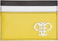 Emilio Pucci Yellow Colorblocked Logo Card Holder