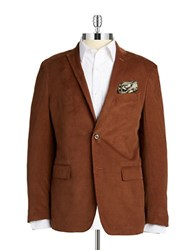 Tallia Orange Double Button Corduroy Blazer Brown