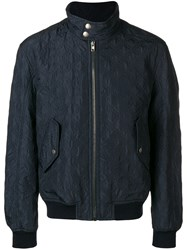 Joseph Maurice Quilted Bomber Jacket Blue