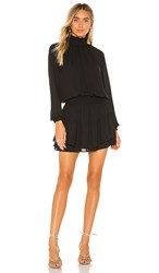 Krisa X Revolve Smocked Turtleneck Dress In Black.