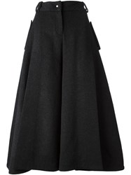 Jamie Wei Huang Front Open Slit Wide Leg Tapered Trousers Grey