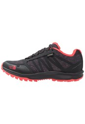 The North Face Litewave Fastpack Gtx Walking Shoes Phantom Grey Heather Cayenne Red Dark Grey