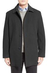Cole Haan Men's Italian Wool Overcoat Charcoal