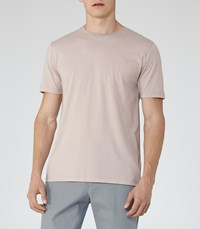 Reiss Bless Marl Mens Crew Neck T Shirt In Red