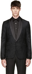 Alexander Mcqueen Black And Green Tuxedo Jacket