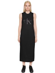 Calvin Klein Jeans True Icon Jersey And Satin Racer Back Dress
