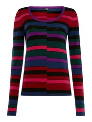 Paul Smith Ps By Stripe Scoop Knit Jumper Multi Coloured Multi Coloured