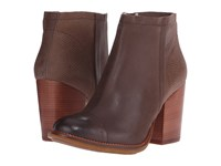 Hush Puppies Axelle Dewey Taupe Leather Women's Zip Boots