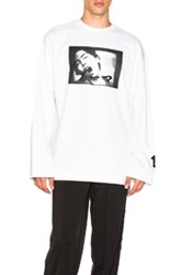 Fenty By Puma Long Sleeve Graphic Crewneck Tee In White