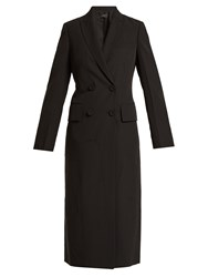 Joseph Best Double Breasted Creased Crepe Coat Black