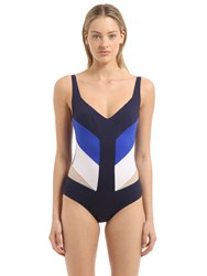 La Perla Beachwear Paneled Lycra Swimsuit W Sheer Inserts