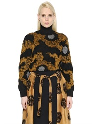 Dries Van Noten Merino Wool And Lurex Turtleneck Sweater