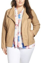 Andrew Marc New York Plus Size Women's Felicia Leather Moto Jacket