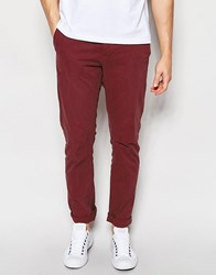 Only And Sons Slim Fit Chinos Red