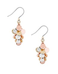 Lucky Brand Sun Kissed Moments Two Tone Cluster Earrings Rose Gold