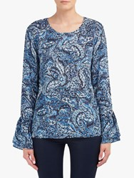 Lily And Lionel Ella Paisley Print Blouse Blue