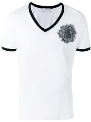 Ermanno Scervino Embroidered Chest Patch T Shirt White