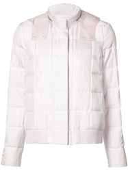 Moncler Gamme Rouge Zipped Neck Hooded Jacket Women Polyester 0 Pink Purple
