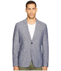 Jack Spade Chambray Sport Coat Navy Men's Jacket