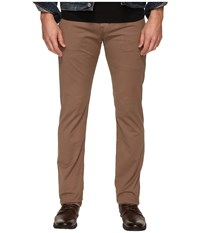 Ag Adriano Goldschmied Matchbox Slim Straight Twill Pants In Baked Clay Baked Clay Men's Casual Pants Mahogany