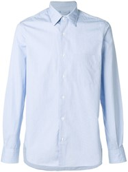 Aspesi Striped Fitted Shirt Cotton Blue