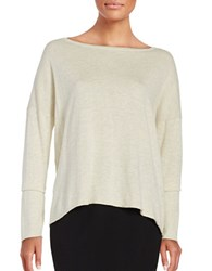 H Halston Drop Shoulder Sweater Tan