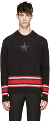 Givenchy Black Knit Star And Stripes Sweater