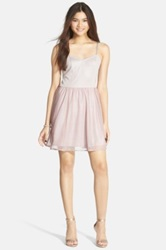 Frenchi Metallic Skater Dress Juniors Beige