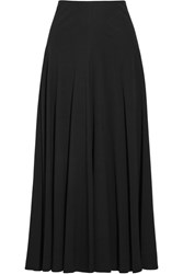 The Row Dia Pleated Stretch Cady Maxi Skirt Black