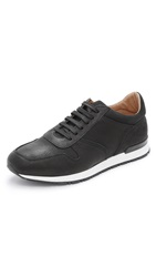 Wings Horns Leather And Nubuck Sneakers Black