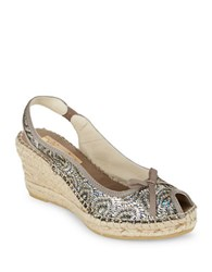 Vidorreta Stacy Open Toe Espadrille Wedges Bronze
