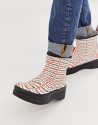 Hunter Original Play Boots In All Over Logo Print Multi
