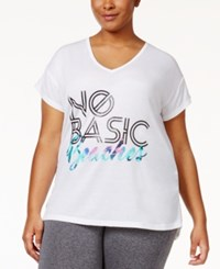 Material Girl Active Plus Size Strappy Back T Shirt Only At Macy's Bright White