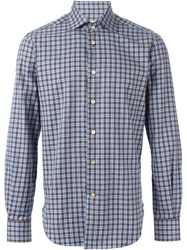 Kiton Checked Shirt Grey