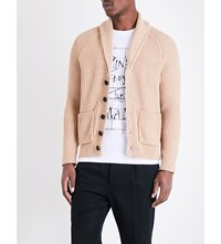 Sandro Knitted Cardigan Beige