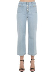 J Brand Joan High Rise Wide Leg Denim Jeans Light Blue