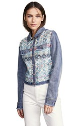 Ramy Brook Murray Jacket Blue Combo