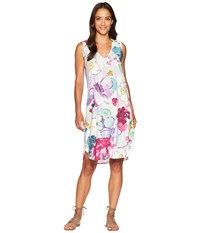 Nally And Millie Sleeveless Purple Floral Dress Multi
