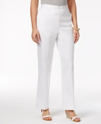 Alfred Dunner Seas The Day Pull On Pants White