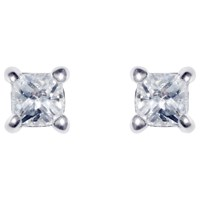 Ivory And Co. Princess Cut Solitaire Cubic Zirconia Stud Earrings Clear