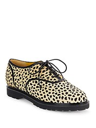 Charlotte Olympia Stefania Cheetah Print Calf Hair Oxfords