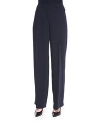 Magaschoni Relaxed Pleated Front Pants Midnight