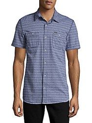 Buffalo David Bitton Sameer Woven Whale Cotton Shirt Whale Combo